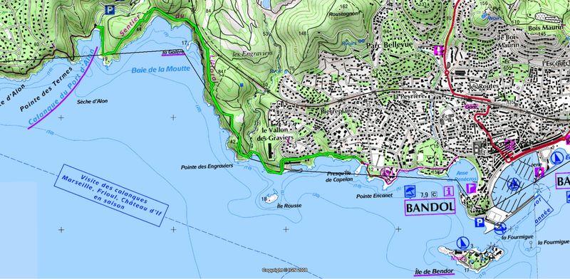 Randonn 233 E Sentier Du Littoral Bandol Port D Alon Andraph Site D Andr 233 Et Rapha 232 Le